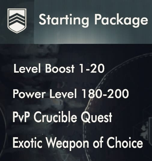 starting boosting package level 1-20