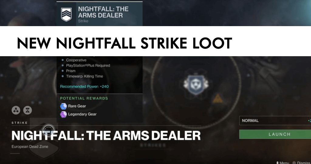 Nightfall Strike Loot Blog Post March 27th