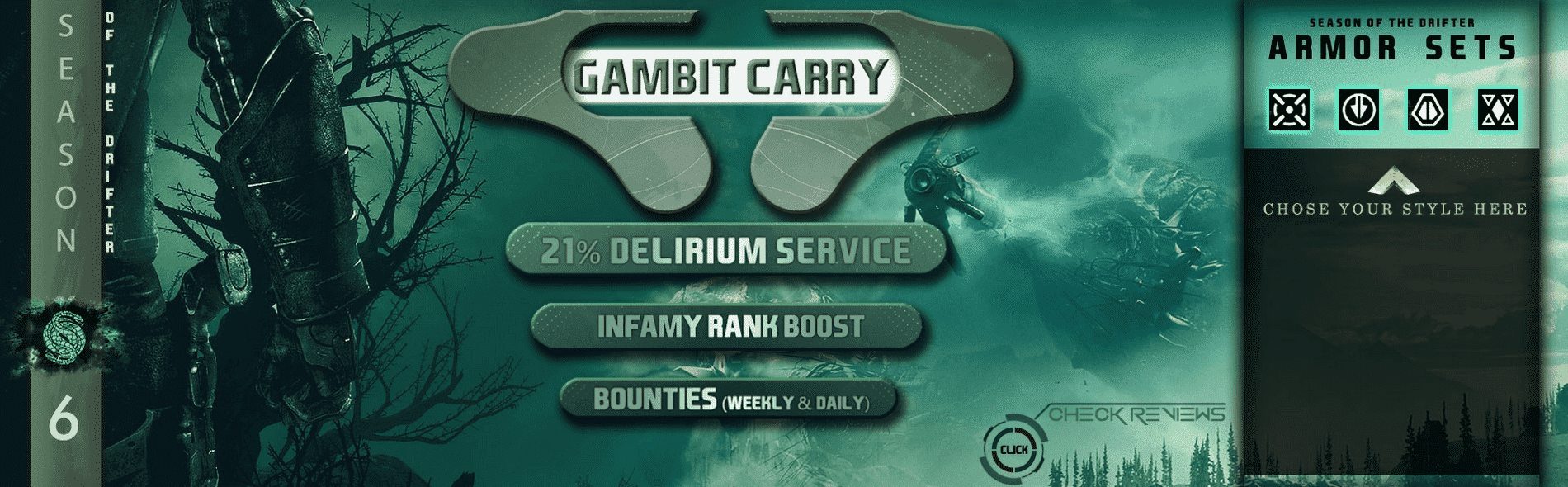 gambit prime carry