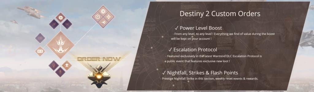 Destiny 2 Powerleveling and Custom Orders