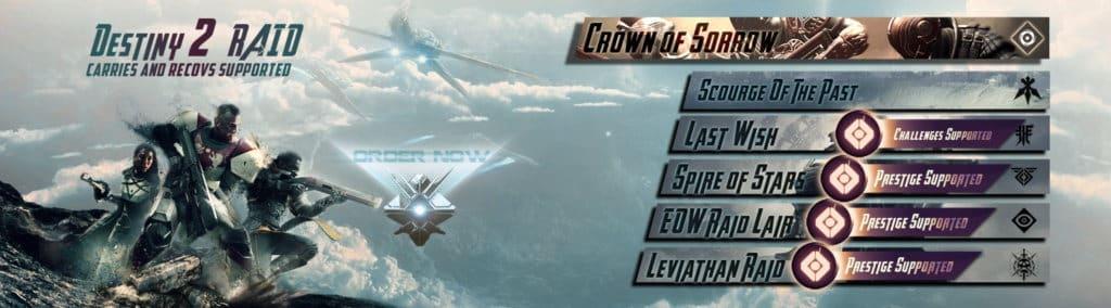 Destiny 2 Raid Carries and Recovs