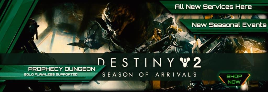 Destiny 2 Season of Arrivals Boosting services