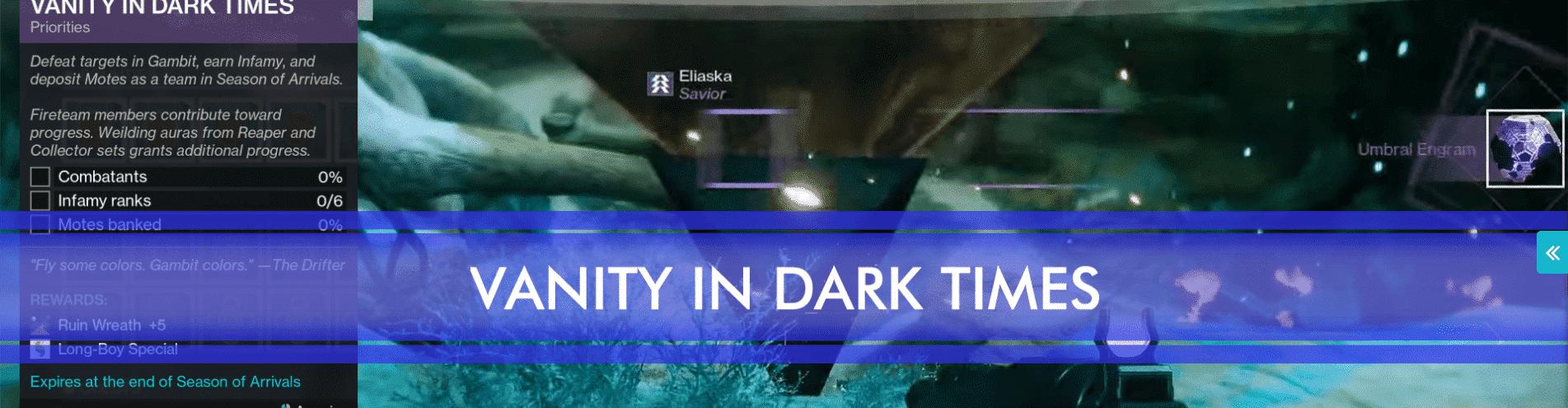 vanity in dark times