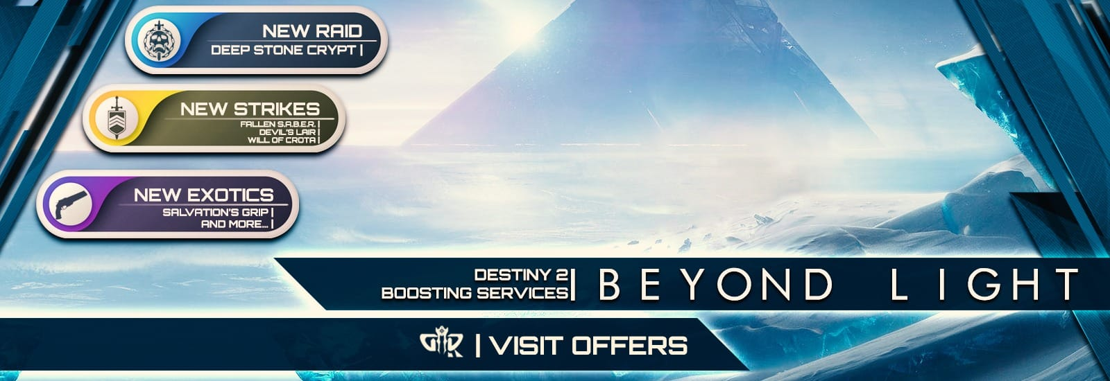 Beyond Light new destiny 2 boosting services