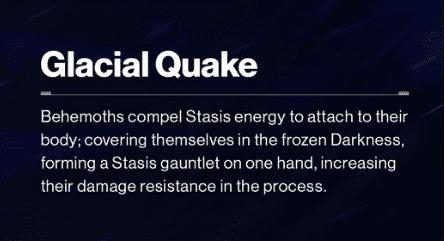 Beyond Light Destiny 2 Glacial Quake