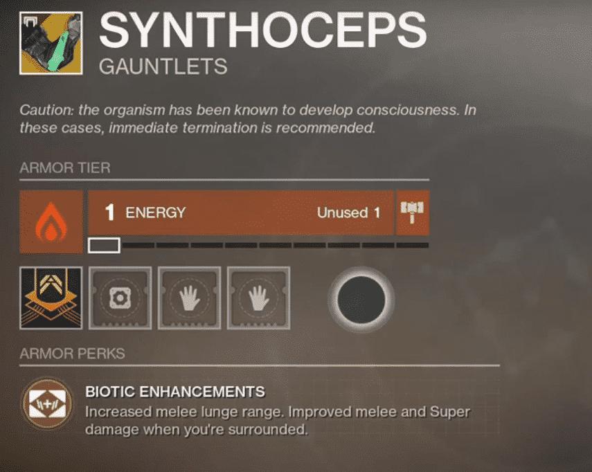 Beyond Light Destiny 2 Synthoceps