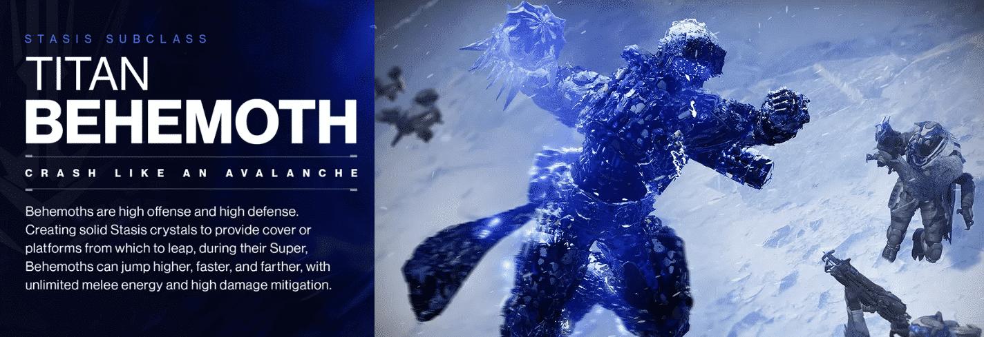 Beyond Light Destiny 2 Titan's Behemoth