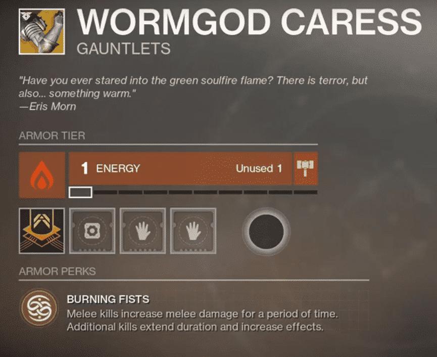 Beyond Light Destiny 2 Wormgod Caress