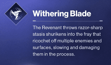 Beyond Light Destiny 2 Withering Blade