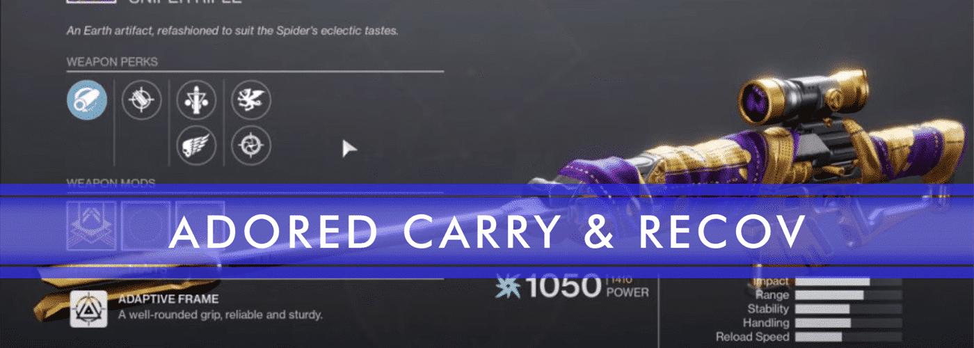 adored carry recov sniper