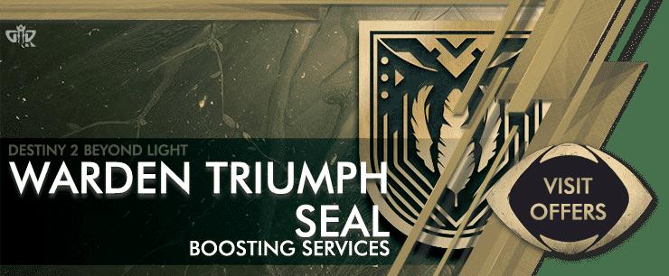 Destiny 2 Warden Triumph Seal - Beyond Light Boosting services Offers-min