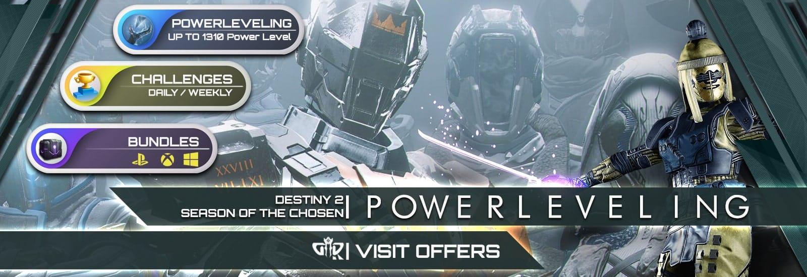 Destiny 2 Season of the Chosen 1310 Power Leveling Boost - Destiny2Raiding-min