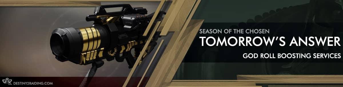 Destiny 2 Season of the Chosen - tomorrow's answer God Roll Boost carry recov-min