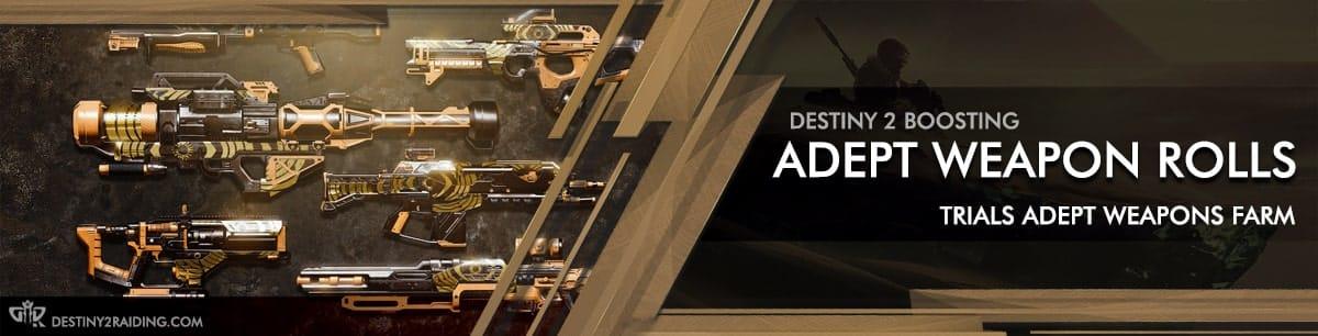 Destiny 2 Boosting services - Trials Adept Weapon Farm as carry & recovs-min