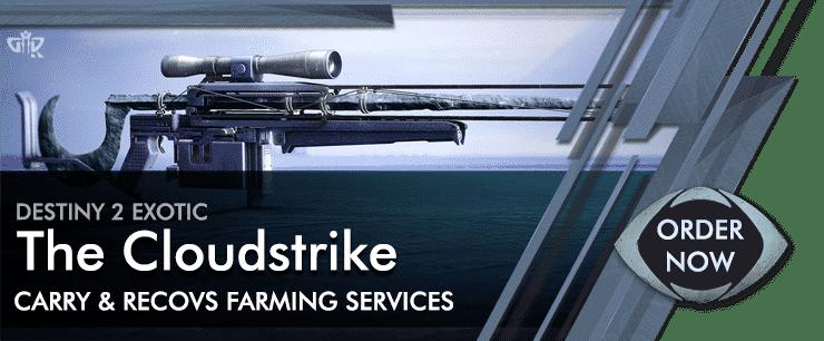 Destiny 2 Boosting - Exotics Farm The Cloudstrike Carry