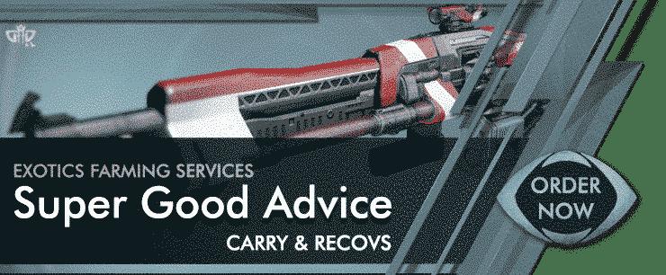 Destiny 2 Boosting Exotics - Super Good Advice Order now