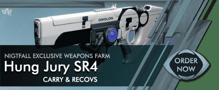 Destiny 2 Boosting - Nightfall Weapon Hung Jury SR4 Farm