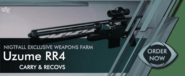 Destiny 2 Boosting - Nightfall Weapon Uzume RR4 Farm