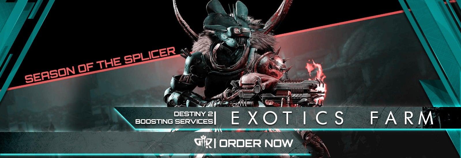 Destiny 2 Boosting - Season of the Splicer Exotics Farming Services