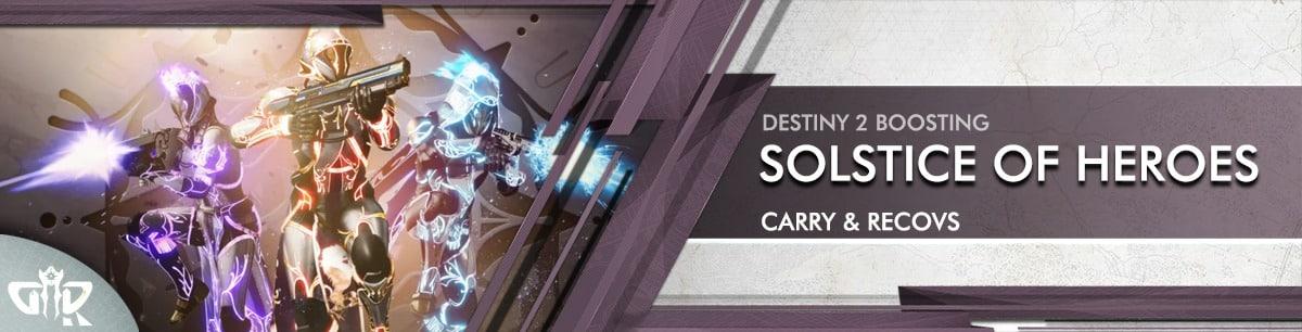 Destiny 2 Boosting - Solstice of Heroes 2021